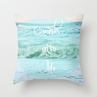 Crash into Me Throw Pillow by Beth - Paper Angels Photography | Society6