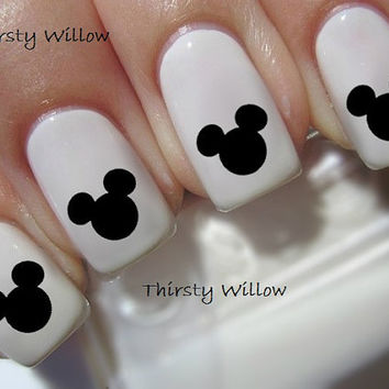 Mickey Mouse Ears Disney Waterslide Nail Decals Water Transfers