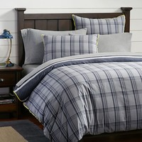 Tribeca Plaid Reversible Duvet Cover + Sham