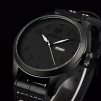 INFANTRY Watch Original Wrist Watches for Men Relogio Masculino Luxury Mens Black Sports Watches Day Date PU Leather