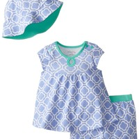 Offspring - Baby Apparel Baby-Girls Newborn Tile Diaper Set and Hat