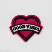 Good Vibes Iron On Patch