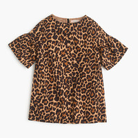 crewcuts Girls Shift Dress In Sandy Leopard