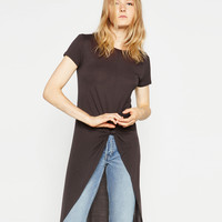 T - SHIRT WITH FRONT KNOT-NEW IN-WOMAN | ZARA United Kingdom