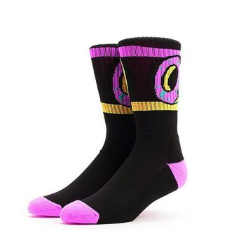 1Pair Odd Future Socks Donut Graphic Men Women Socks Cute Dot Cotton Long Socks Novelty Striped Skateboard Socks