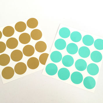 Vinyl Polka Dot Decal Stickers for Flasks and Tumblers
