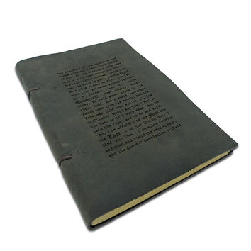 Personalized Monogrammed Engraved Notebook Leather Travel Diary Sketchbook Journal Church Scriptures