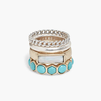 Turquoise Ring Stack | Lucky Brand