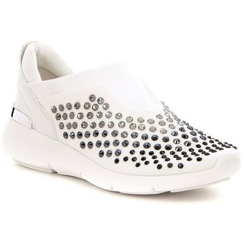 MICHAEL Michael Kors Ace Stone Embellished Slip On Sneakers | Dillards