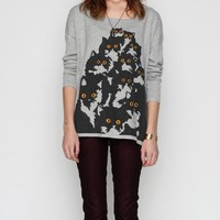 Pretty Snake / Crazy Cat Sweater In Gray