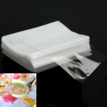 NEW 100pcs Party Gift Favor Candy Chocolate Lollipop Clear Cello Bags Cellophane = 5658101505