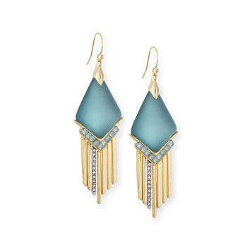 Fringed Chevron Lucite Earrings - Alexis Bittar