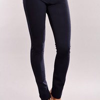 Navy Button Fly Jegging Pants