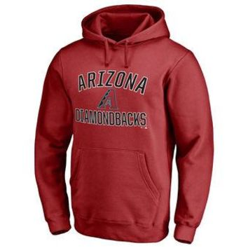Arizona Diamondbacks MLB Red Fastball Fleece Pullover Hoodie