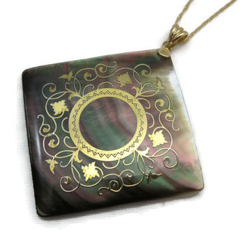 14k Gold Filigree Abalone Necklace Pendant - Fine Jewelry, Ross Simons