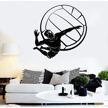 Vinyl Decal Wall Stickers Volleyball Player Ball Sport Beach Living Room (z1641)