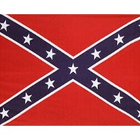 Confederate or Rebel 3 x 5 foot, Red/White/Blue Polyester Flag
