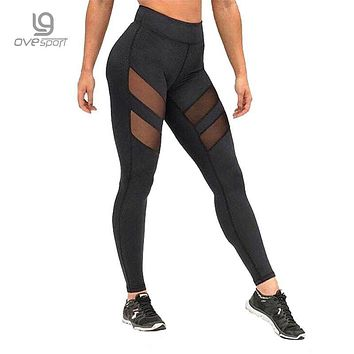 Ladies Mesh High Waist Leggings Fitness Women Breathable Push Up Leggings Women Quick Dry High Quality Casual Workout Leggins