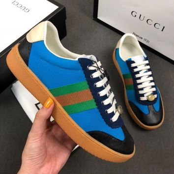 GUCCI Nylon and suede Web sneaker 5 colors-8