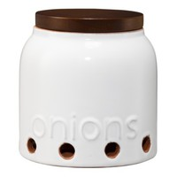 Threshold™ Terracotta Shallot Jar with Acacia Lid
