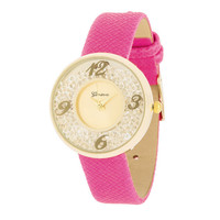 Floating Crystal Watch - Pink