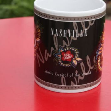 Hilo Hattier Tropical Flower Nashville Tennessee Music Capital Coffee Tea Mug