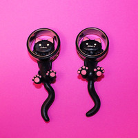 "Large gauge Ear Kitty Plugs Available in 1/2"", 9/16"", 5/8"", 3/4"",  7/8"" and 1"" (sold as pair)"