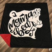 Mama Bear Blanket • Minky • Momma • Bear • Protective • Mother • Grizzly • 3-4 Week Turnaround