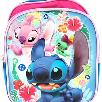 "Disney Lilo and Stitch 10"" Toddler Girls/Boys Large School Backpack"