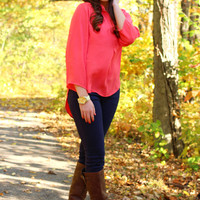 Beautiful You Blouse - Coral