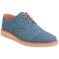 TOMS Aviator Twill Brogue Denim Denim Oxfords