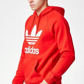 ONETOW adidas Trefoil Red Pullover Hoodie at PacSun.com