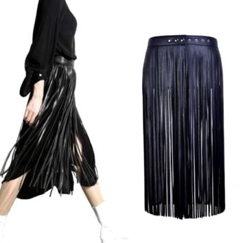 Tassel Belt Skirt