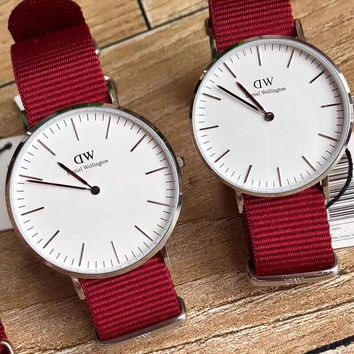 DCCK2 D022 Daniel Wellington DW Simple Casual Lovers watch Red White