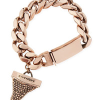Givenchy Rose Golden Pave Crystal Shark Tooth Bracelet