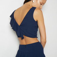 Navy Metz Two Piece Dress | Fame & Partners USA