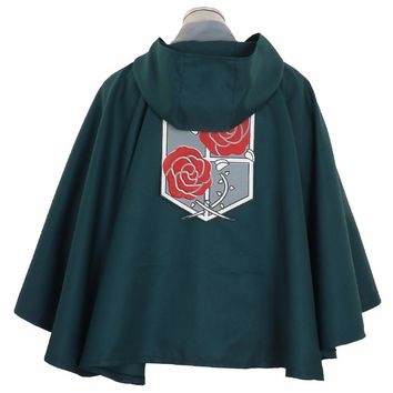 Cool Attack on Titan Halloween  Garrison Regiment  TV Cape Robes Cloak no  Eren Jaeger Cosplay Costume Anime Japanese AT_90_11