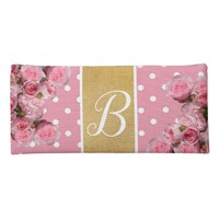 Pink polka dot and peonies pencil case | Zazzle.co.uk