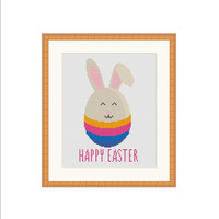 Easter cross stitch pattern, Easter cross stitch, Easter Xstitch, Rabbit cross stitch, Rabbit Xstitch, Bunny cross stitch, Bunny Xstitch PDF