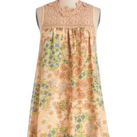 ModCloth Vintage Inspired Short Sleeveless Tent Out in the Garden Dress