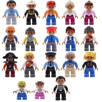 Single Sale Big Size Family series Building Blocks Character Compatible With Legoingly Duplo Figures Toys For Baby Kids children