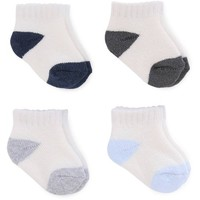 Child of Mine by Carter's Newborn Baby Boy Ankle Socks, 4 Pack - Walmart.com