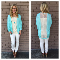 Mint Niomi Lace Back Cardigan