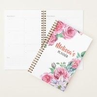 Personalizable cute floral frame girly planner