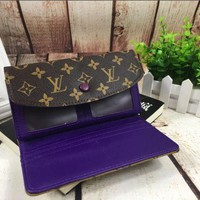 LV fashion leather printing long wallet[380330410020] F