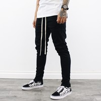 Grayson skinny Chino Pants (Black)