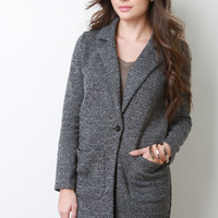 Two Tone Knit Coat Jacket