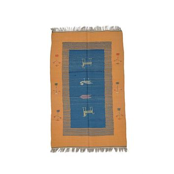 "Turkish Kilim Turkish 3' 0"" X 4' 9"" Handmade Rug"