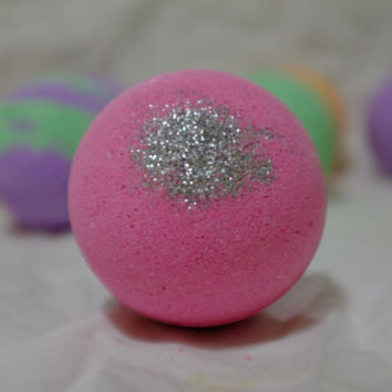 Large Pink Strawberry Bath Bomb