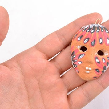 Interior beautiful souvenir masquerade pendant Venetian carnival mask Bird